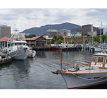 photoj Tassie, Hobart water front Photographic Print