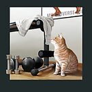 Cat and Weights by Martine Carlsen