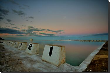 Merewether Baths at Dusk 8 by Mark Snelson