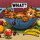 WHAT Cat - Fruit Bowl by Martine Carlsen