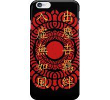 The Legend of Korra Red Lotus Symbol With Guru Laghima's Poem iPhone Case/Skin