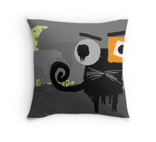 GATO NEGRO Throw Pillow