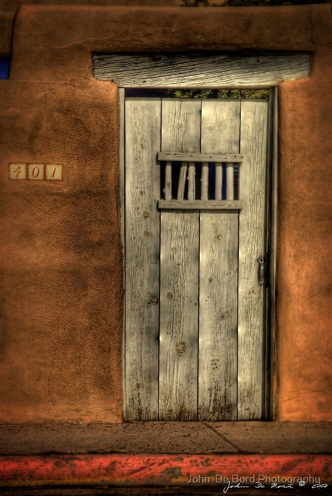 A Passageway to the Past--The Doors of Santa Fe 1 by John  De Bord Photography