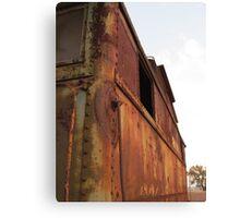 Rusty caboose Canvas Print