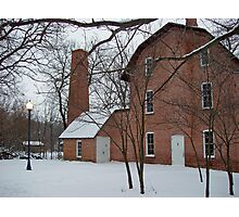 Deep River Mill in winter Photographic Print