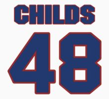 National football player Clarence Childs jersey 48 by imsport