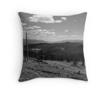 A view of the second and the third highest peaks in the lower forty-eight Throw Pillow