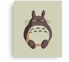 Grumpy Totoro Canvas Print