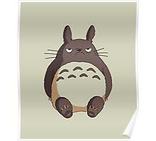 Grumpy Totoro Poster