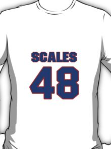 National football player Patrick Scales jersey 48 T-Shirt