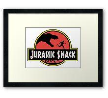 Jurassic Snack Framed Print
