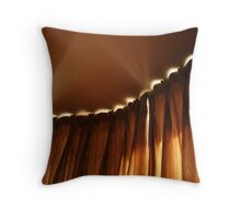 curtains light and shadows Throw Pillow