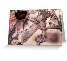 Fractured View - Red Greeting Card