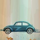 VW Beatle afloat by vinpez