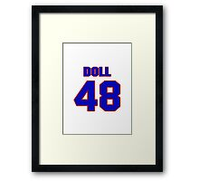 National football player Don Doll jersey 48 Framed Print