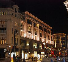 Streets of London - Oxford Street at Night by Karen Martin