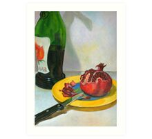 pomegranate & wine Art Print
