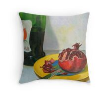 pomegranate & wine Throw Pillow