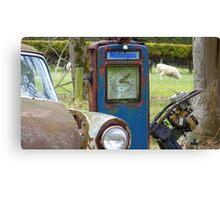 How MUCH per Gallon SIR!!!! - Old gas pump - Invercargill - New Zealand Canvas Print