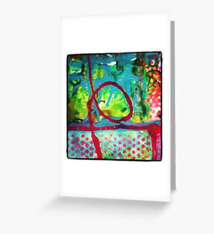 Polka Graffiti Greeting Card