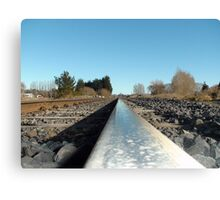 What a Wheel sees on a Rail Track! - Railway Line - New Zealand Canvas Print