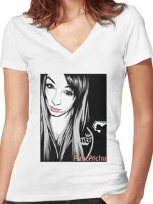 AimAtchu Vector Shirt Women's Fitted V-Neck T-Shirt
