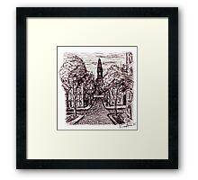 Old Odessa City pen ink drawing Framed Print