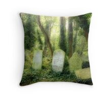 Abney Park Cemetery Throw Pillow