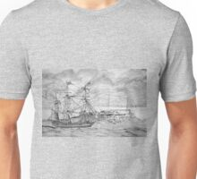 Sailing Ship off Castle Cornet in Guernsey Unisex T-Shirt