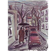 Rainy day. Pastel drawing Photographic Print