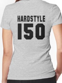 Hardstyle Football (Black) Women's Fitted V-Neck T-Shirt