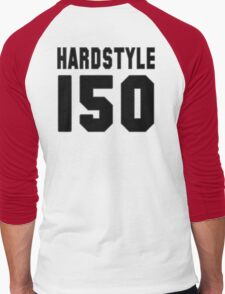 Hardstyle Football (Black) Men's Baseball ¾ T-Shirt