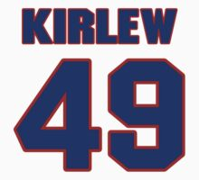 National football player Jammie Kirlew jersey 49 by imsport