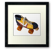 Retro Roller Skate Framed Print