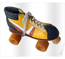 Retro Roller Skate Poster