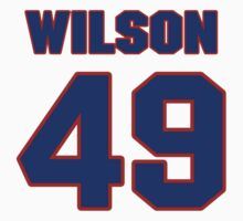 National football player Lawrence Wilson jersey 49 by imsport