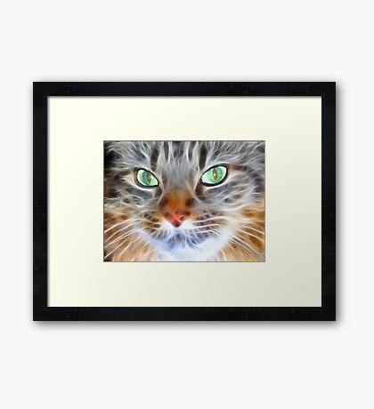 Fractual Feline Framed Print