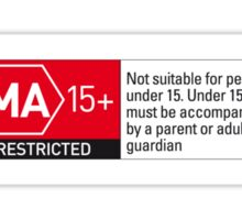 Rated MA+ Sticker
