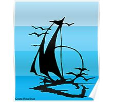 Costa Rica Blue Poster