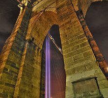 Brooklyn Bridge Tower by Peter Bellamy