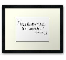 Life's Adventure Quote Framed Print