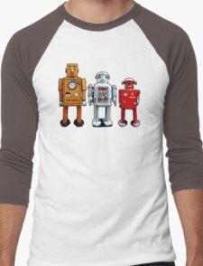Three Robots. Men's Baseball ¾ T-Shirt