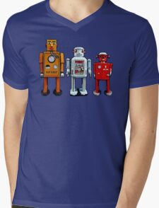 Three Robots. Mens V-Neck T-Shirt