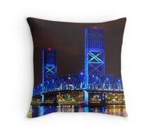 Main Street Bridge Throw Pillow