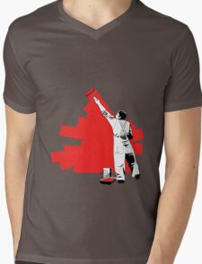 Renovate yourself - red Mens V-Neck T-Shirt