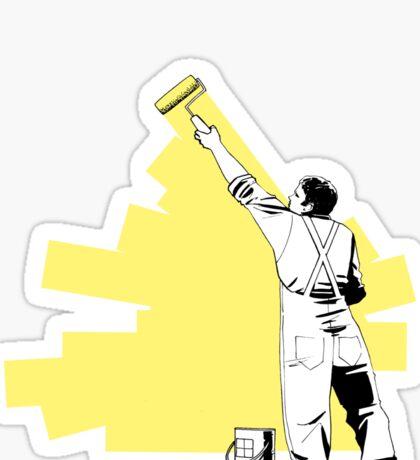 Renovate yourself - yellow Sticker