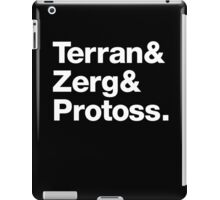 SC Helvetica - White Type iPad Case/Skin