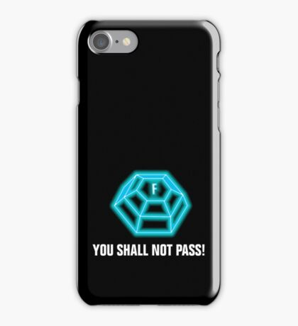 You shall not pass - ForceField blue iPhone Case/Skin