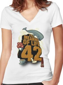 The Meaning of Life Women's Fitted V-Neck T-Shirt