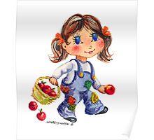 APPLE GIRL by SHARON SHARPE Poster